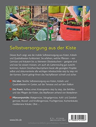 Selbstversorger Buch Balkon Selbstversorger Garten Kistengärtnern Kistengarten Urban Gardening autark leben