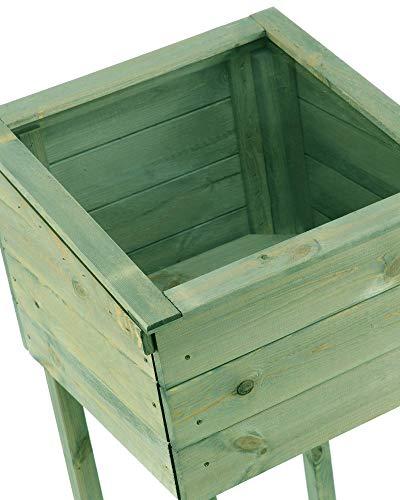 myGardenlust Frühbeet Pflanzkasten – Hochbeet aus Holz – Kräuterbeet für Garten Terrasse Balkon Pflanztisch Grün imprägniert - 6
