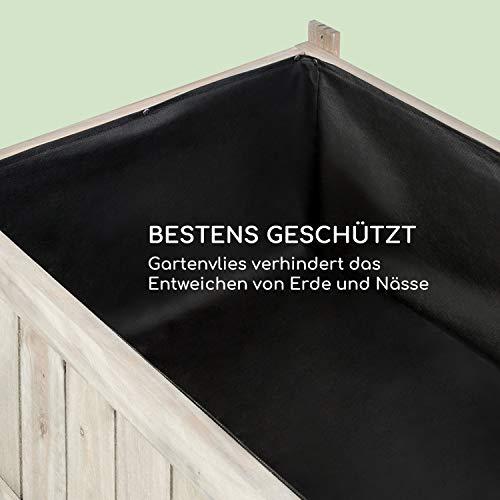 blumfeldt Altiplano Terrado Hochbeet – 120 x 121 x 54 cm (BxHxT), Gewächshaus mit Polycarbonat-Scheiben, solides Kiefern-Holz, große Anbaufläche, Holz - 2