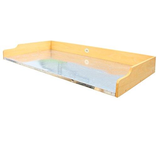 Habau Gartentisch Tischplatte für Hochbeet, Gelb, 119 x 60 x 10,5 cm